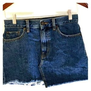 Size 2 Golden dark blue jean skirt